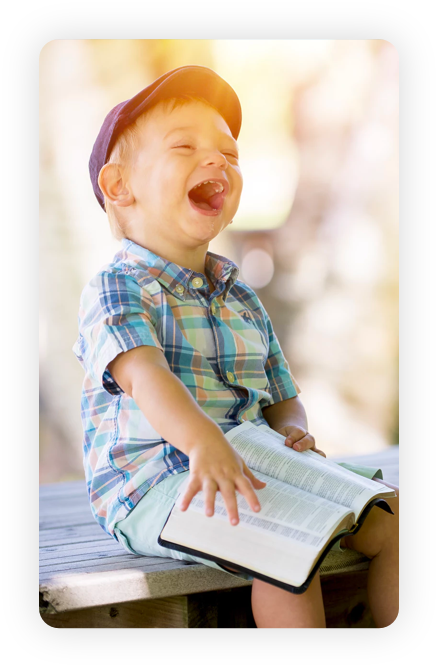 kid laughing